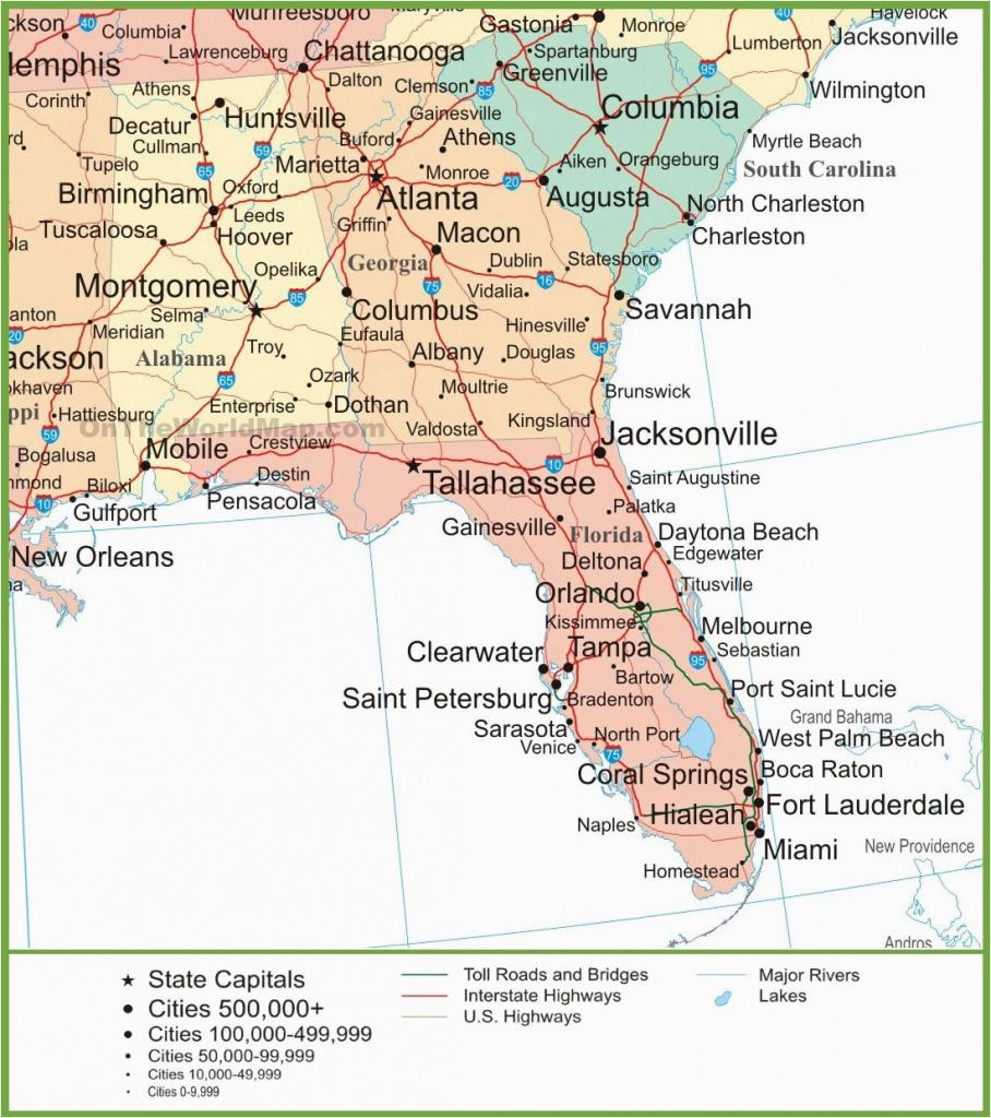 Road Map Of Alabama And Florida Map Of Alabama Georgia And Florida - Road Map Of Florida Panhandle