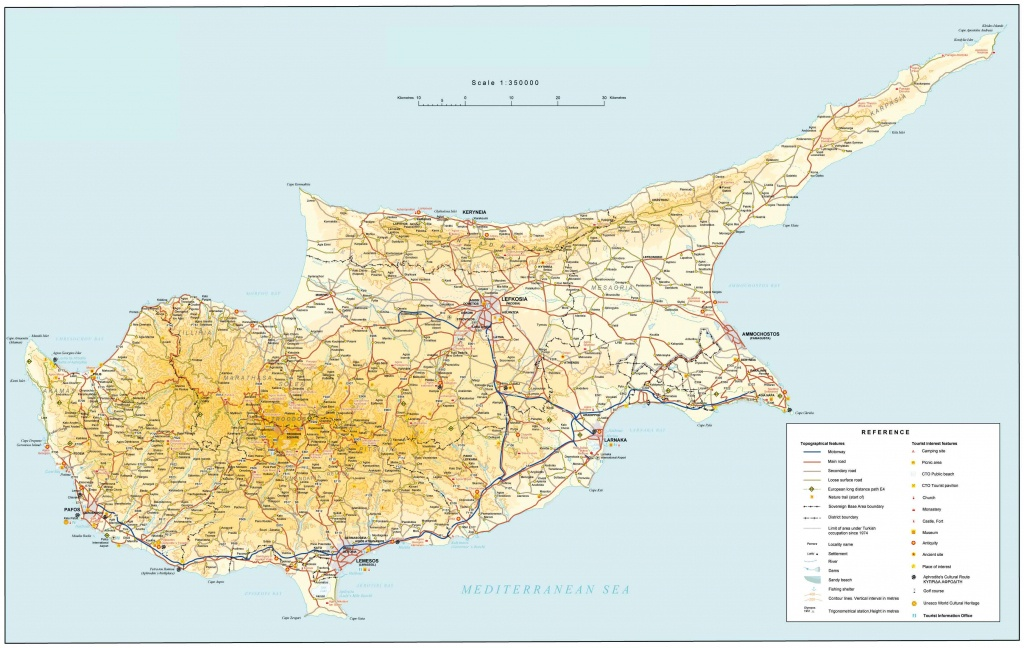 Road Map Of Cyprus   Tourist Map Of Cyprus   Maps Of Districts In Cyprus - Printable Map Of Cyprus