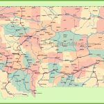Road Map Of Montana With Cities   Printable Map Of Montana