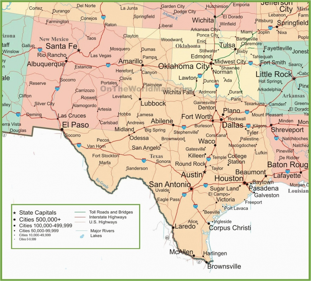 Road Map Of New Mexico And Texas   Secretmuseum - Texas New Mexico Map