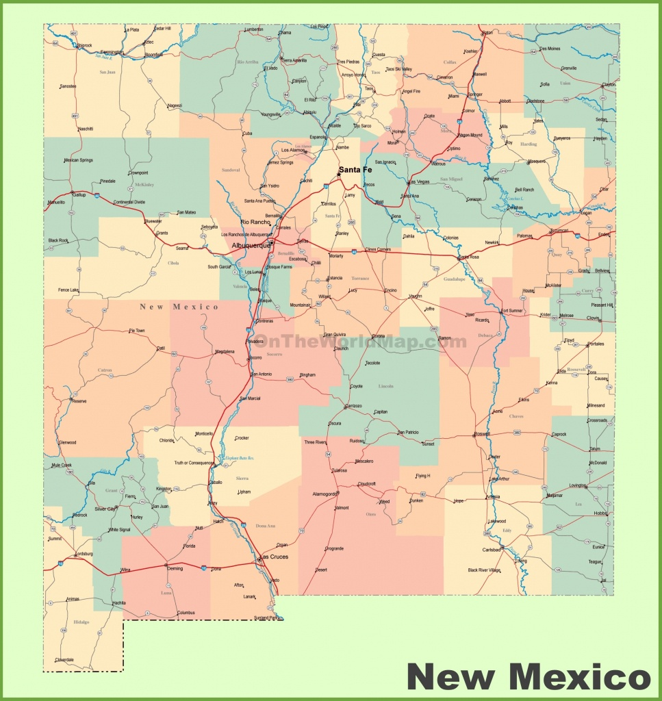 Road Map Of New Mexico With Cities - Printable Map Of New Mexico