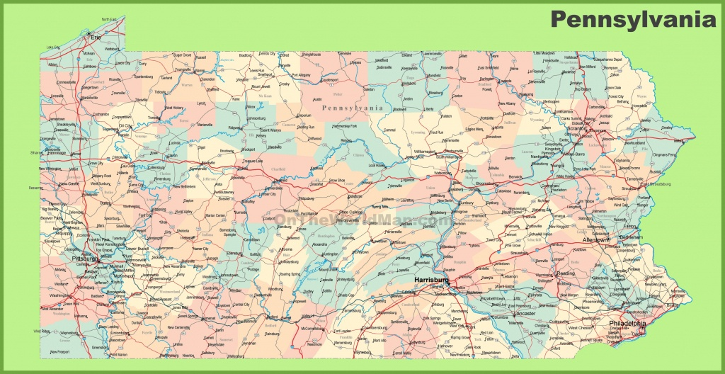 Road Map Of Pennsylvania With Cities - Printable Road Map Of Pennsylvania