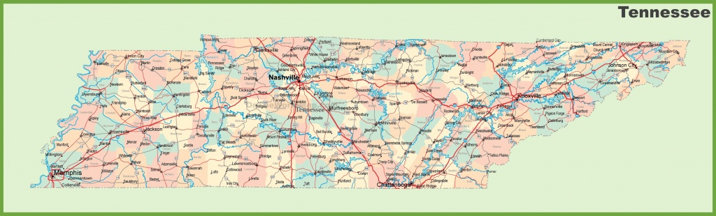 Road Map Of Tennessee With Cities - Printable Map Of Tennessee Counties