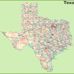 Road Map Of Texas With Cities   Map Of Texas Roads And Cities
