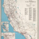 Road Map Of The State Of California, 1958.   David Rumsey Historical   Driving Map Of California With Distances