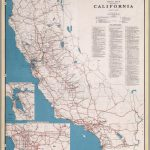 Road Map Of The State Of California, July, 1940.   David Rumsey   Driving Map Of California With Distances