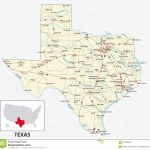 Road Map Of The Us American State Of Texas Stock Vector   Big Spring Texas Map