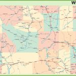 Road Map Of Wyoming With Cities   Printable Road Map Of Wyoming