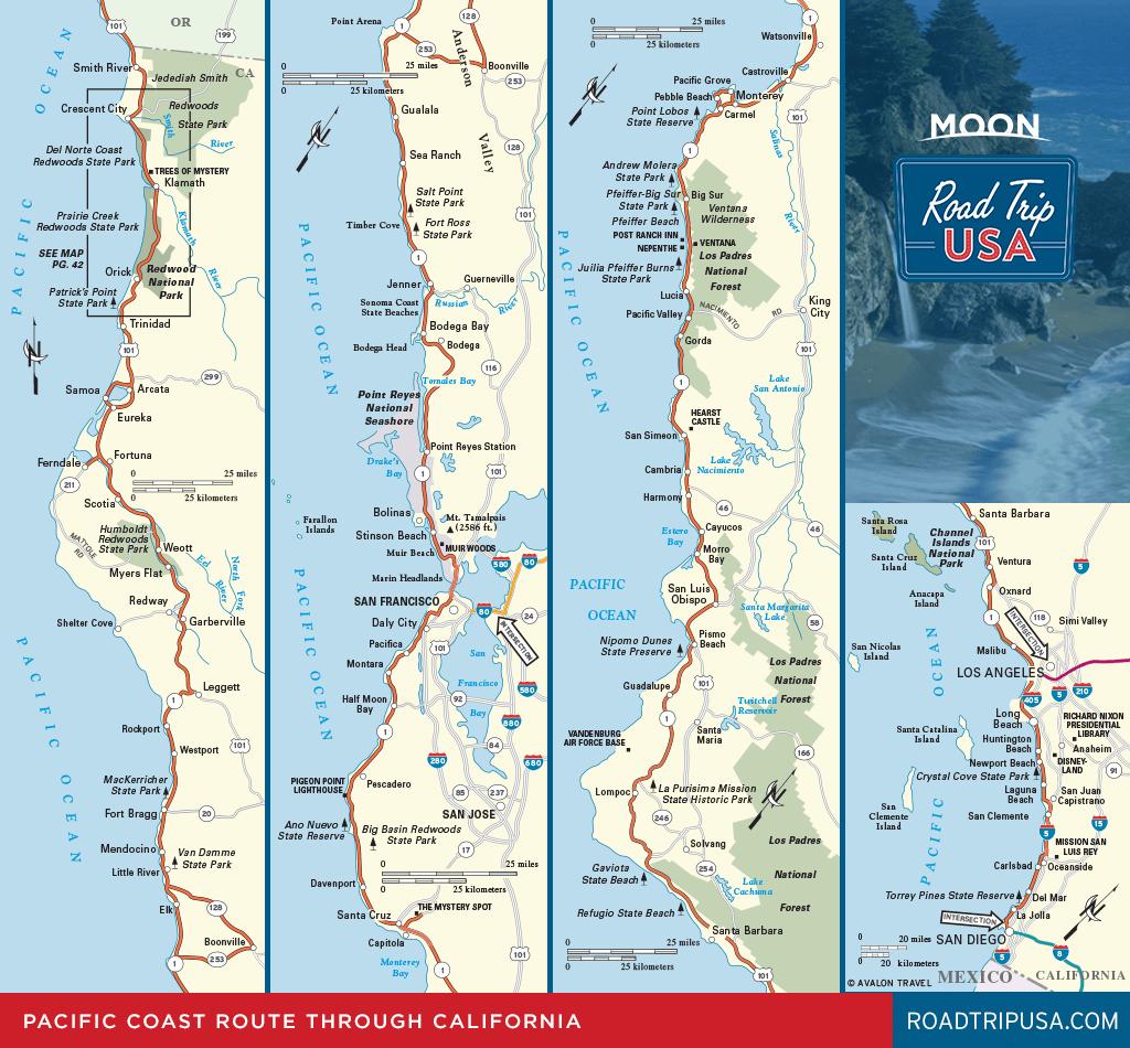 Road Trip California On The Classic Pacific Coast Route | Road Trip Usa - Detailed Map Of California Coastline