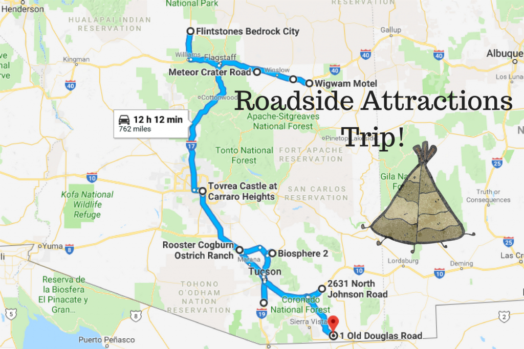 Road Trip To The 10 Weirdest Roadside Attractions In Arizona - Roadside Attractions Texas Map