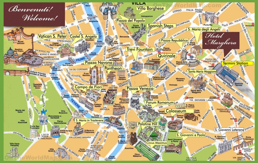 Rome Maps | Italy | Maps Of Rome (Roma) - Printable Map Of Rome Attractions