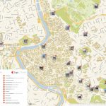 Rome Printable Tourist Map | Sygic Travel   Street Map Of Rome Printable