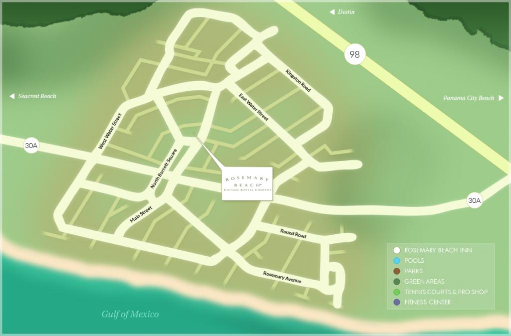 Rosemary Beach® Community Map - Inlet Beach Florida Map