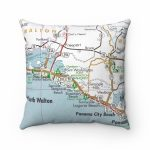 Rosemary Beach Florida Map Pillow Rosemary Beach Pillow 30A | Etsy   Rosemary Florida Map