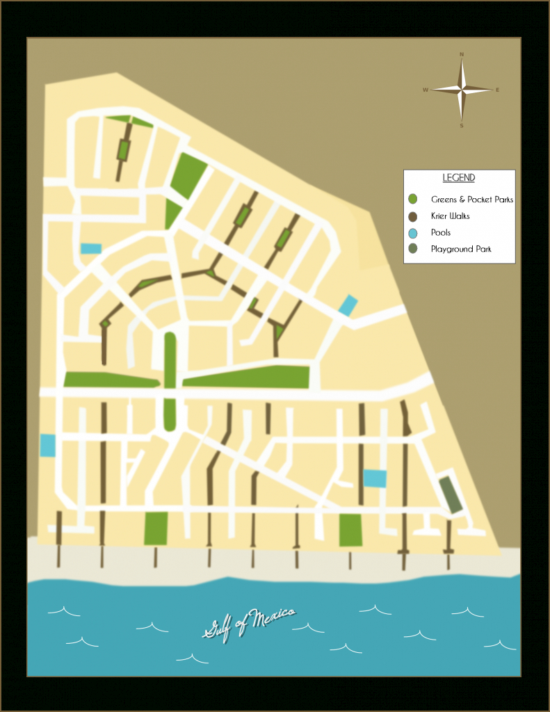 "Rosemary Beach Florida - Neighborhood Parks And ""Krier"" Walks - Rosemary Beach Florida Map"