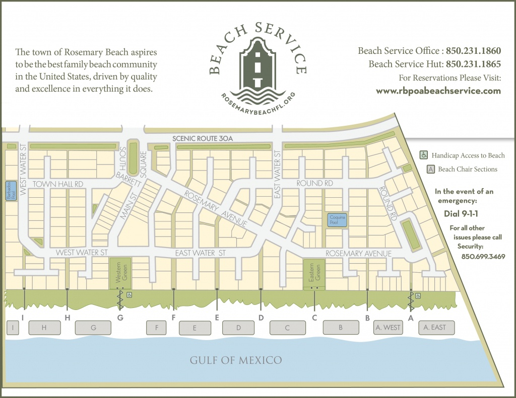 Rosemary Beach Walkovers | Rosemary Beach Service - Rosemary Beach Florida Map