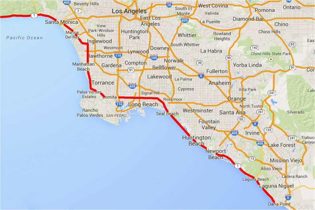 Route 1 California Road Trip Map Driving The Pacific Coast Highway - Route 1 California Map