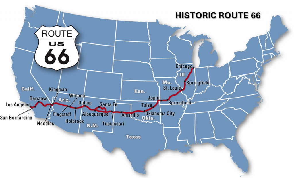 Route 66 Kicks: Day 1….chicago To Joplin | Road Tripping | Route 66 - Printable Route 66 Map