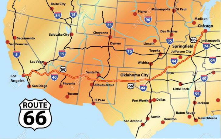 Printable Route 66 Map