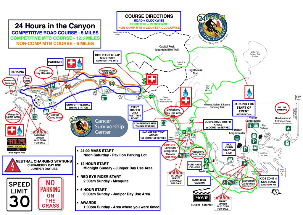Routes / Maps / Rules - 24 Hours In The Canyon - Midnight Texas Map