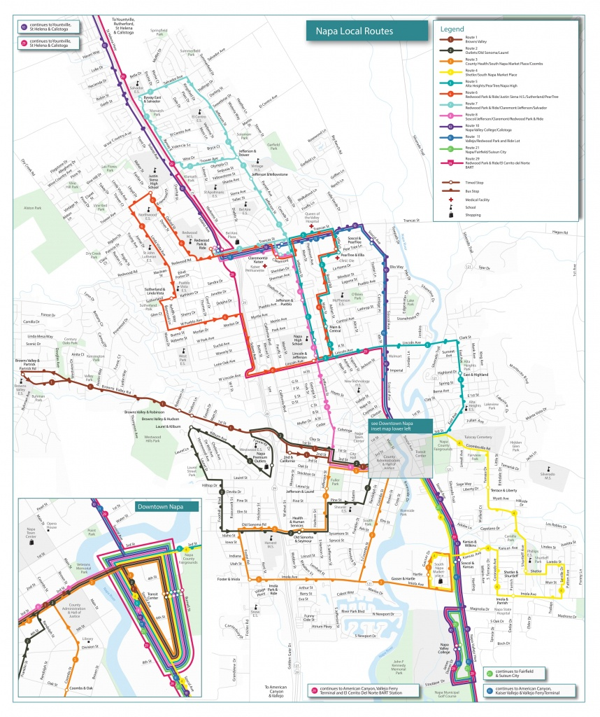 Routes & Schedules | Vine Transit - Printable Route Maps