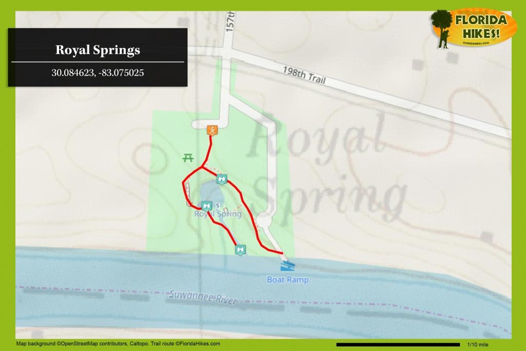 Royal Springs   Florida Hikes! - Florida Hot Springs Map