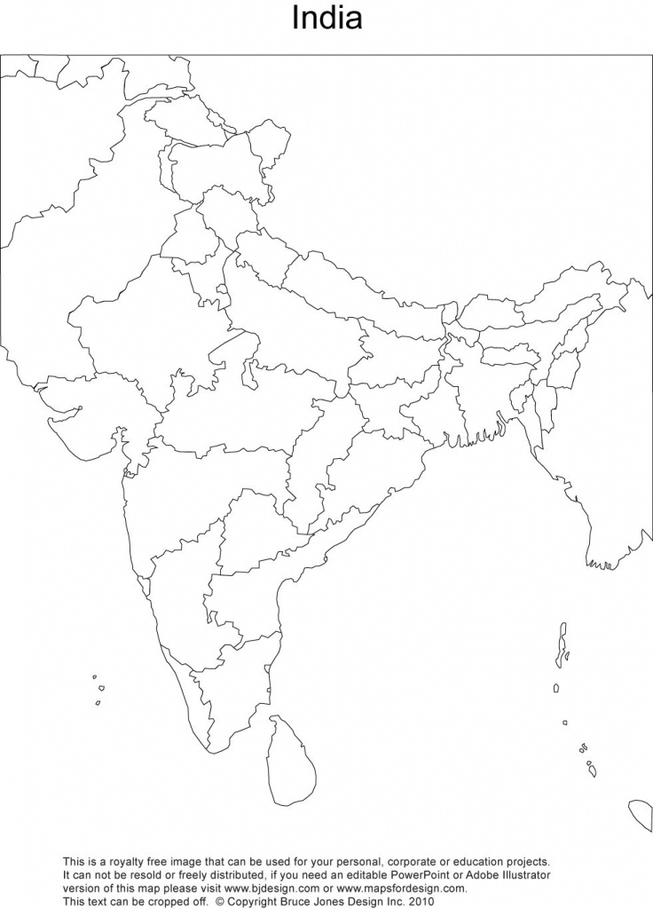 Royalty Free, Printable, Blank, India Map With Administrative - Map Of India Blank Printable