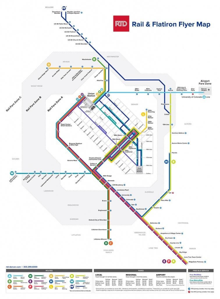 Rtd   Light Rail System Map - California Train Map