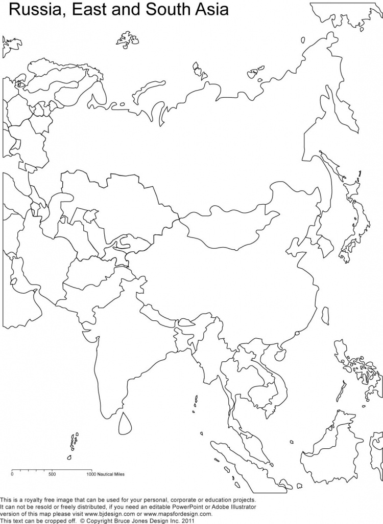 Russia And Asia, Blank Printable Map, Royalty Free | Geography | Map - Outline Map Of Russia Printable