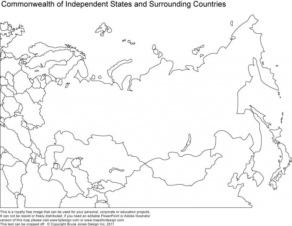 Russia, Asia, Central Asia Printable Blank Maps, Royalty Free   Maps - Outline Map Of Russia Printable