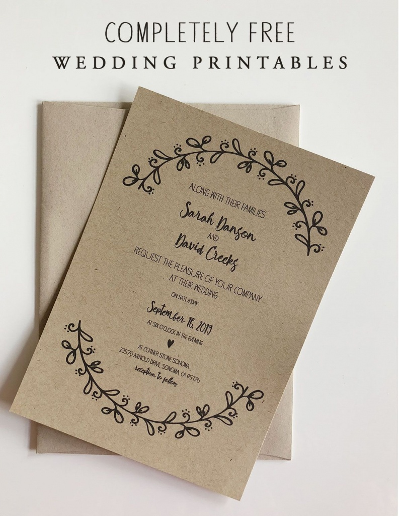 Rustic Floral Wedding Invitation With Rsvp & Maps   Wedding   Free - Maps For Wedding Invitations Free Printable