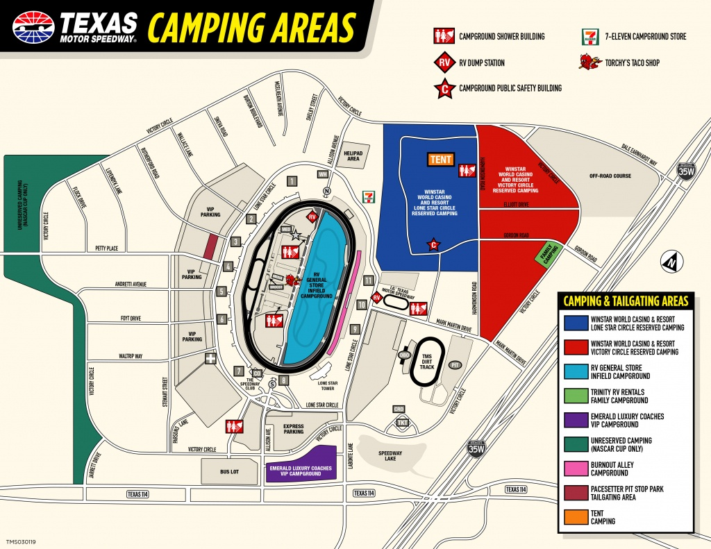 Rv General Store Infield Campground - Texas Motor Speedway Map