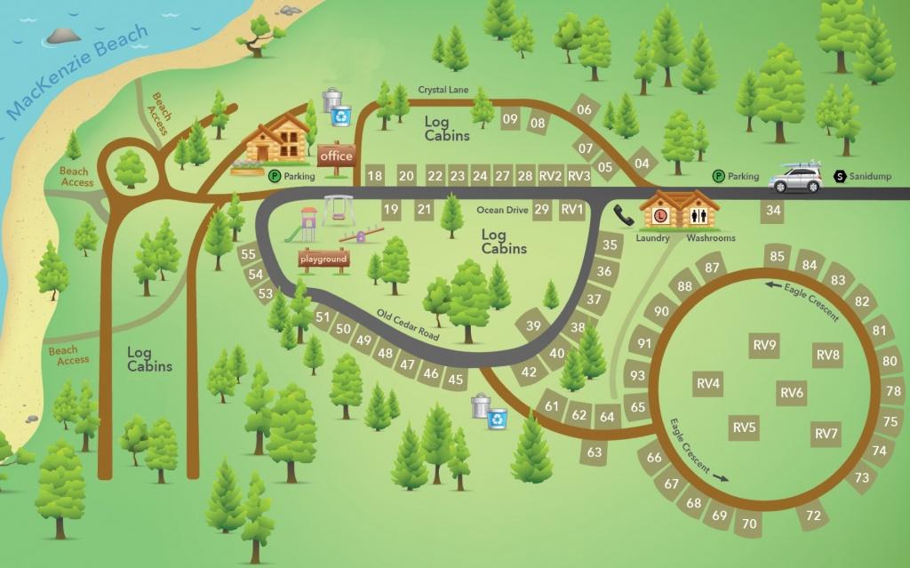 Rv Park Map | Crystal Cove Beach Resort - Rv Parks California Map