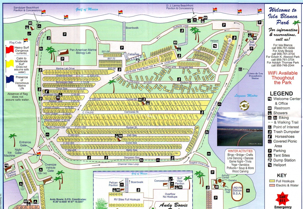 Rv Park South Padre Island Tx - Isla Blanca Rv Park Cameron County - South Texas Rv Parks Map