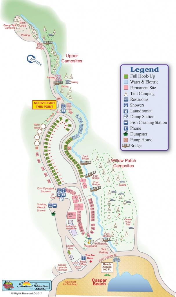 Rv Parks California Coast Map – Map Of Usa District - Rv Parks California Map