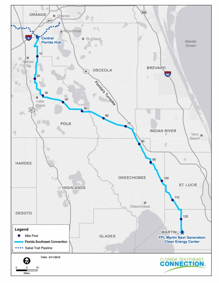 Natural Gas Availability Map Florida