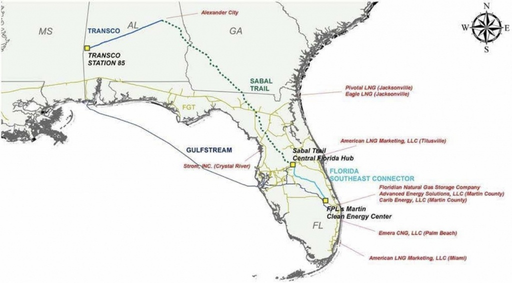 Sabal Trail Opponents Say Pipeline Is Part Of Florida's 'overbuilt - Florida Natural Gas Pipeline Map