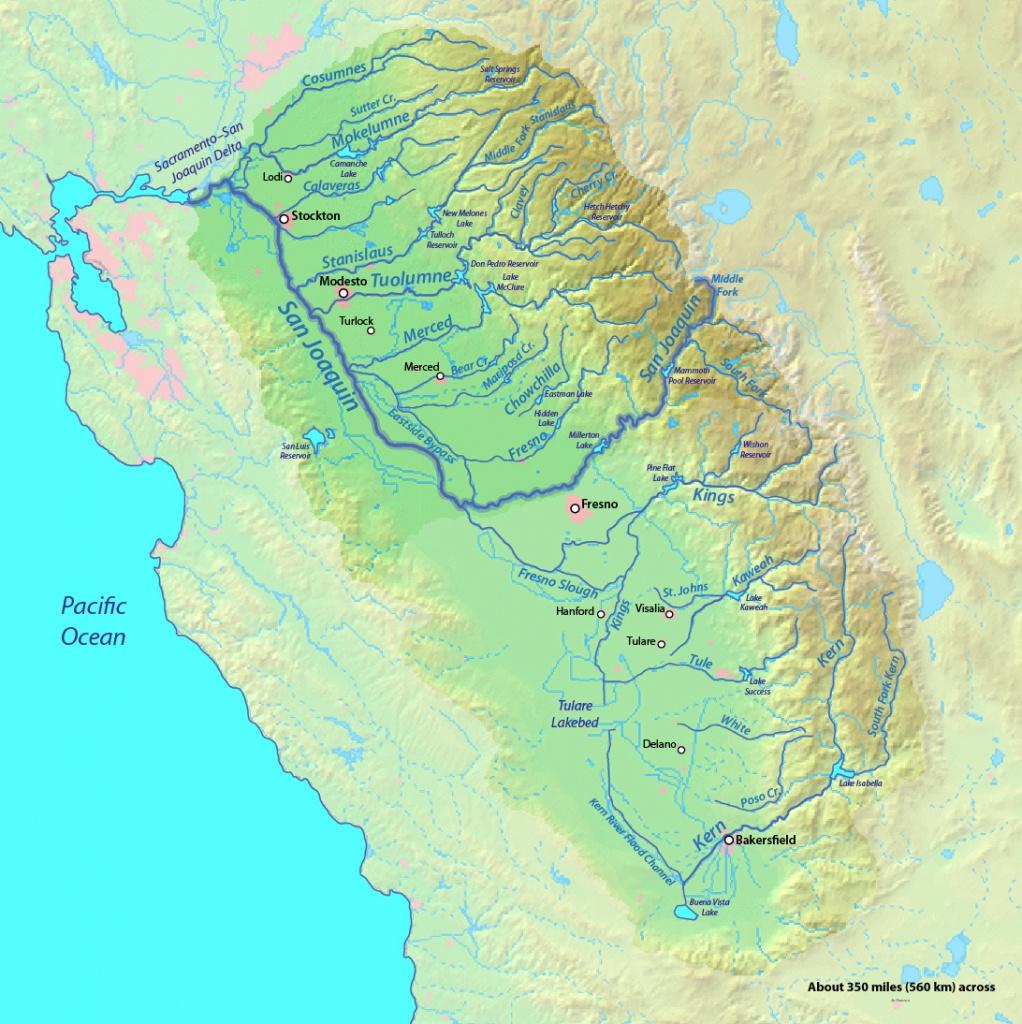 Sacramento And San Joaquin Rivers   American Rivers - Southern California Rivers Map