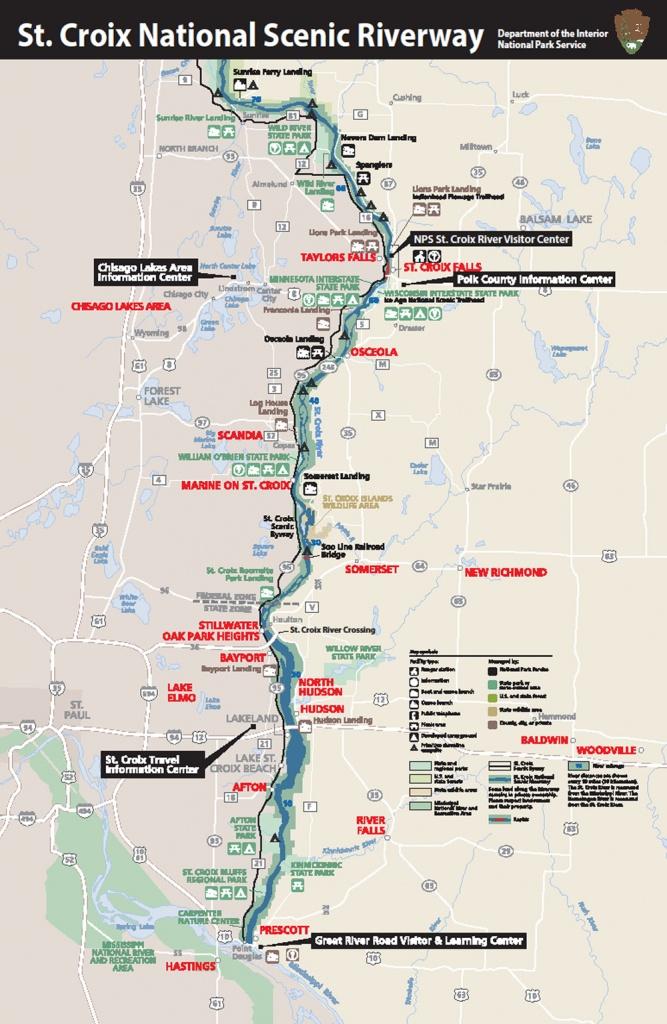 Saint Croix Valley Map – Explore The Wild And Scenic St Croix Valley - Printable Map Of St Croix