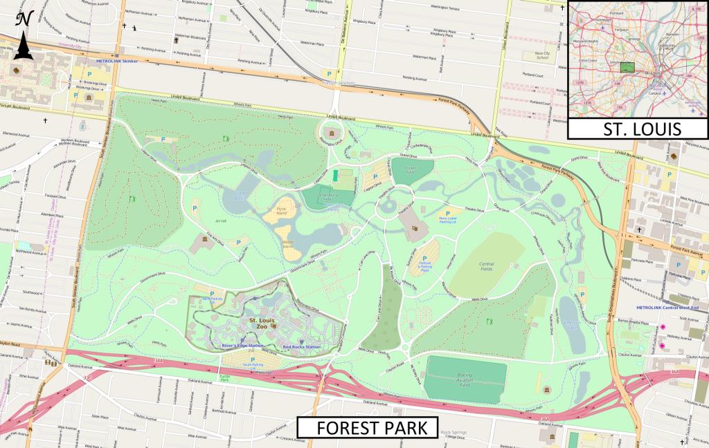 Saint Louis Zoo - Wikipedia - Forest Park St Louis Map Printable