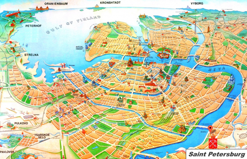 Saint Petersburg Tourist Map - Printable Map Of St Petersburg Russia