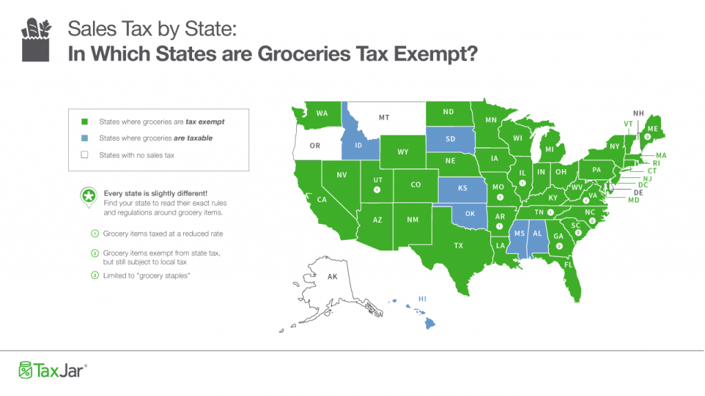 Sales Taxstate: Are Grocery Items Taxable? - Texas Sales Tax Map