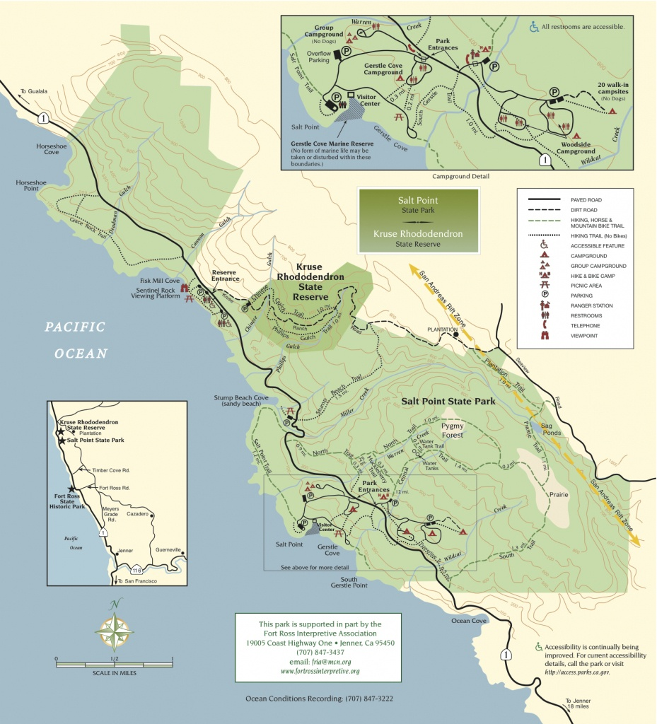 Salt Point State Park | Sonoma Hiking Trails - California State Campgrounds Map