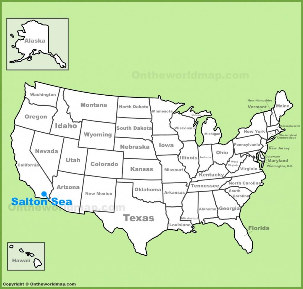 Salton Sea Location On The U.s. Map - Salton Sea California Map
