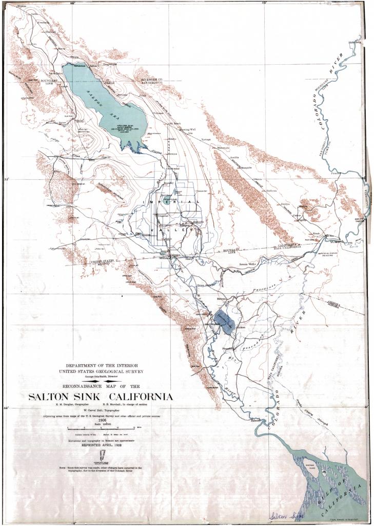 Salton Sink California Map - Rise Of The Salton Sea - Salton Sea California Map
