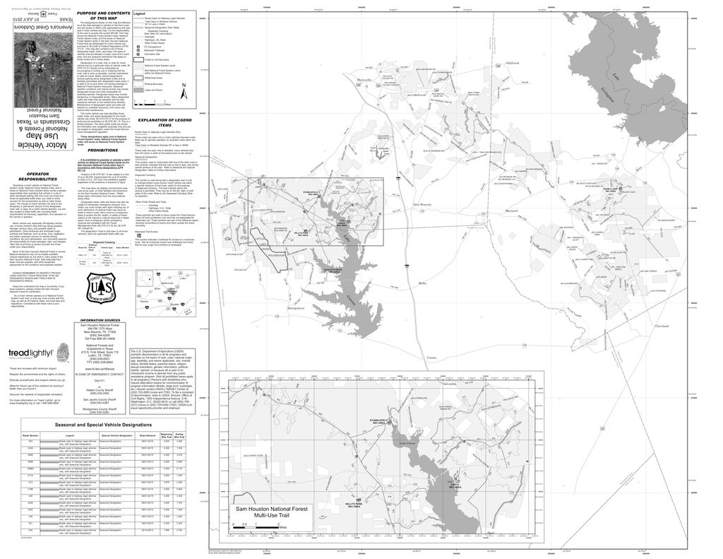 Sam Houston National Forest - Maplets - Texas National Forest Hunting Maps