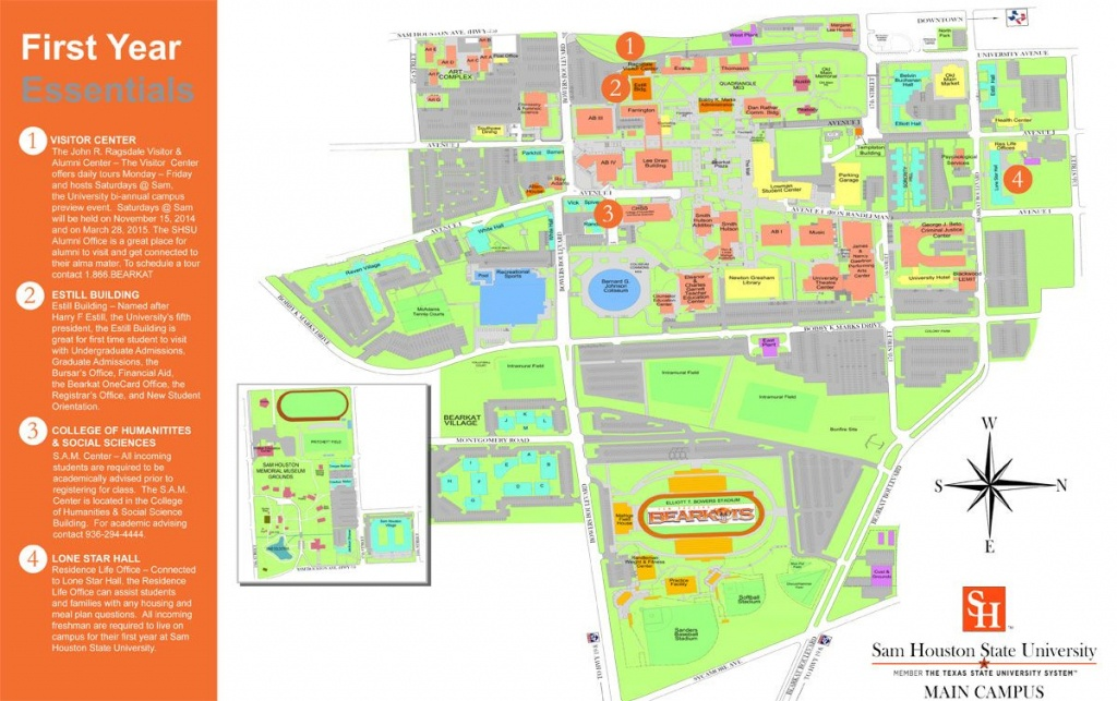 Sam Houston State Campus Map | Danielrossi - Texas State University Housing Map