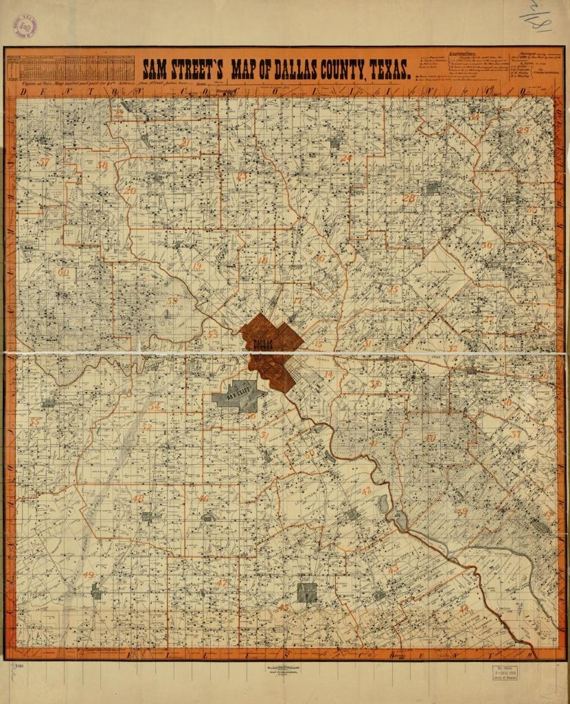 Sam Street's Map Of Dallas County, Texas. | Library Of Congress - Map Records Dallas County Texas