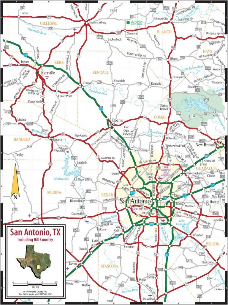 San Antonio And Surrounding Cities Map - Map Of San Antonio And - Map Of San Antonio Texas Area