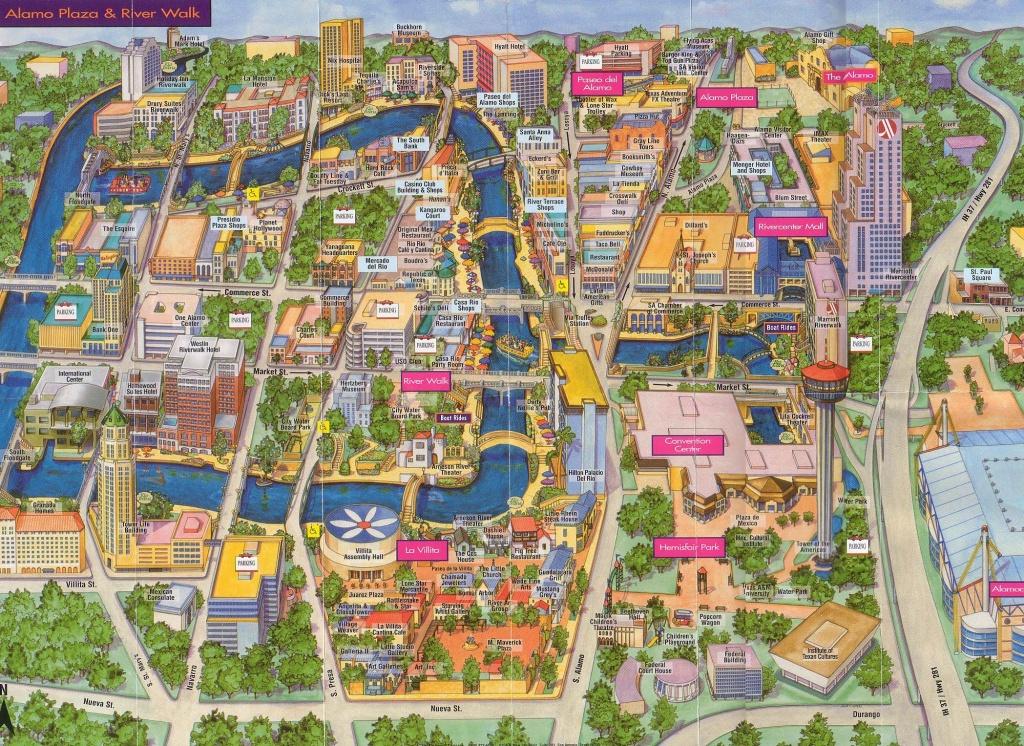 San Antonio   San Antonio, Texas Tourist Map See Map Details From - Texas Sightseeing Map